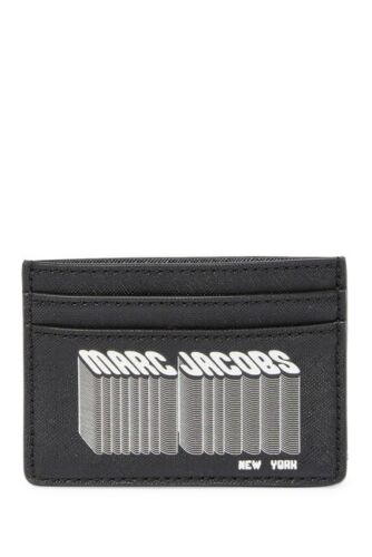 NWT Authentic Marc Jacobs Many Layers Of Marc Jacobs Leather Card Case Black