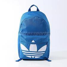 Adidas Originals Classic Trefoil Blue White Unisex Backpack BP Bag AJ8528