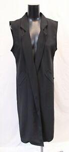 Boohoo-Women-039-s-Plus-Tailored-Sleeveless-Duster-CK6-Black-Size-UK-16-US-12-NWT