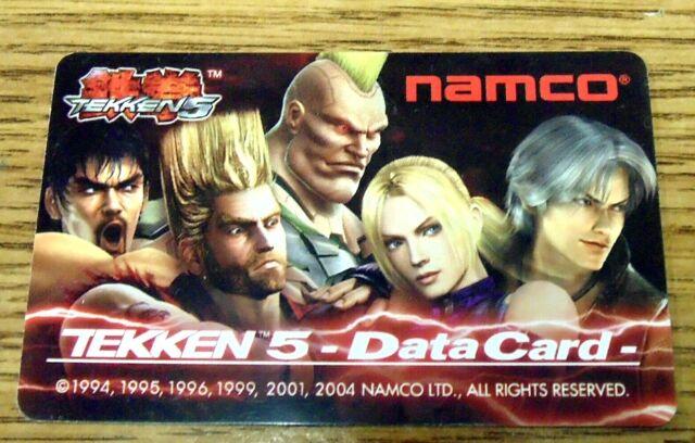 Namco Player's Data Card for Tekken 5 Fighting Arcade Games