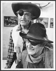 John-Wayne-Verdadero-Grano-la-Rojo-Skelton-Mostrar-Original-1960s-TV-Promo-Foto