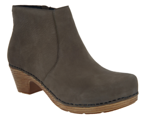 Dansko Nubuck Leather Ankle Boots Maria Taupe Women/'s EU42 US 11.5