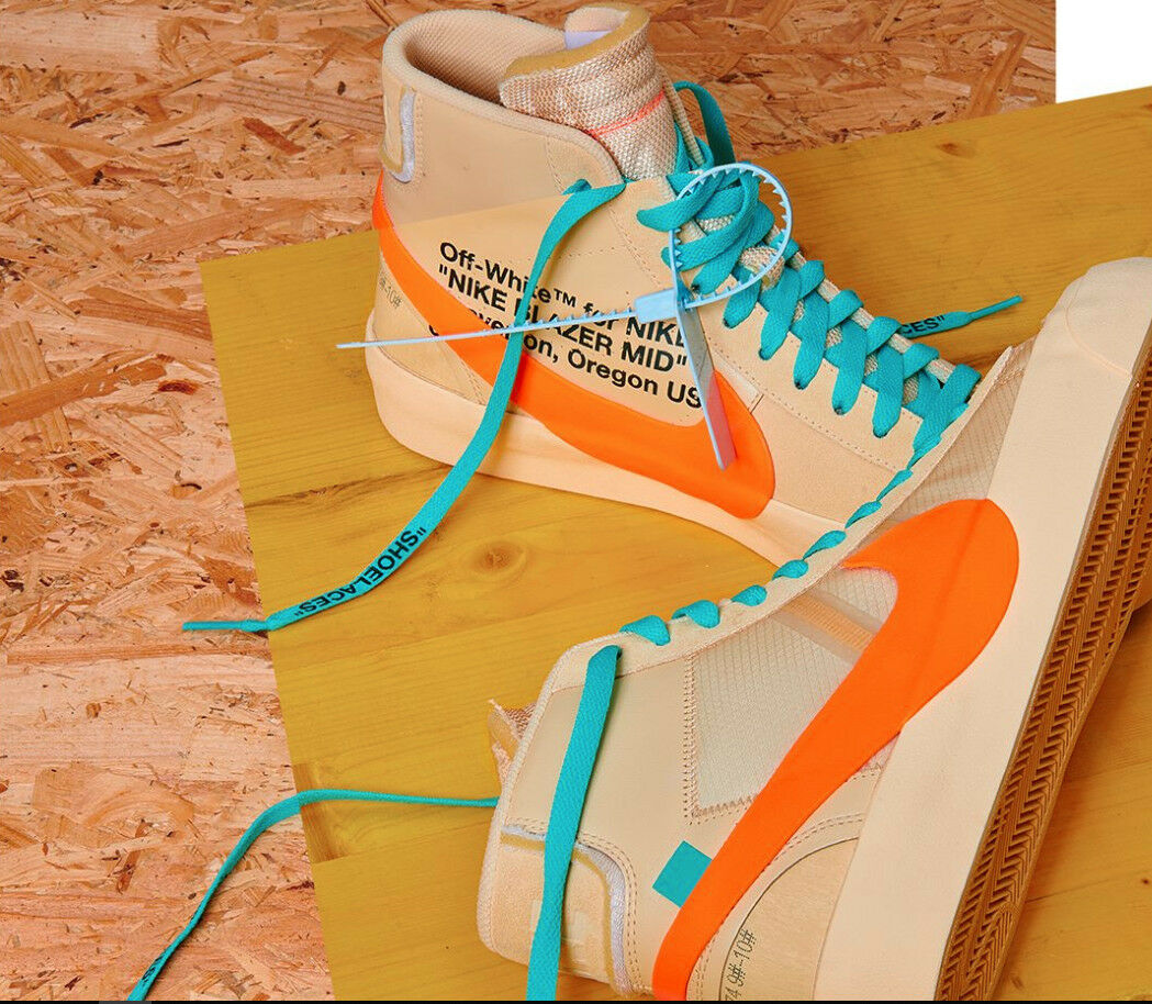 100 Authentic and Brand New Off-White X Nike Blazer Mid All Hallows Eve Size 9.5