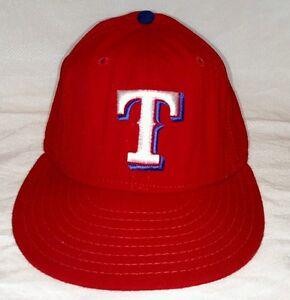 6210f8951 TEXAS RANGERS Hat WOOL Baseball Cap Vintage Worn NEW ERA Diamond Sz ...