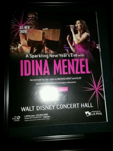Idina Menzel Rare New Year's Eve Concert Promo Poster Ad Framed!