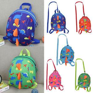 Baby-Kids-Children-Dinosaur-Safety-Harness-Strap-Bag-Cartoon-Backpack-with-Reins