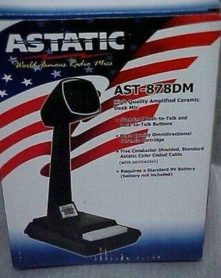 Astatic AST-878DM CB//Ham//10 Meter Radio Desk Base Station Microphone Amplified