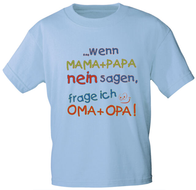 (08108) Kinder ♥ Baby T-Shirt Gr. 86 - 164 auch rosa 6 Sprachen Mama Papa
