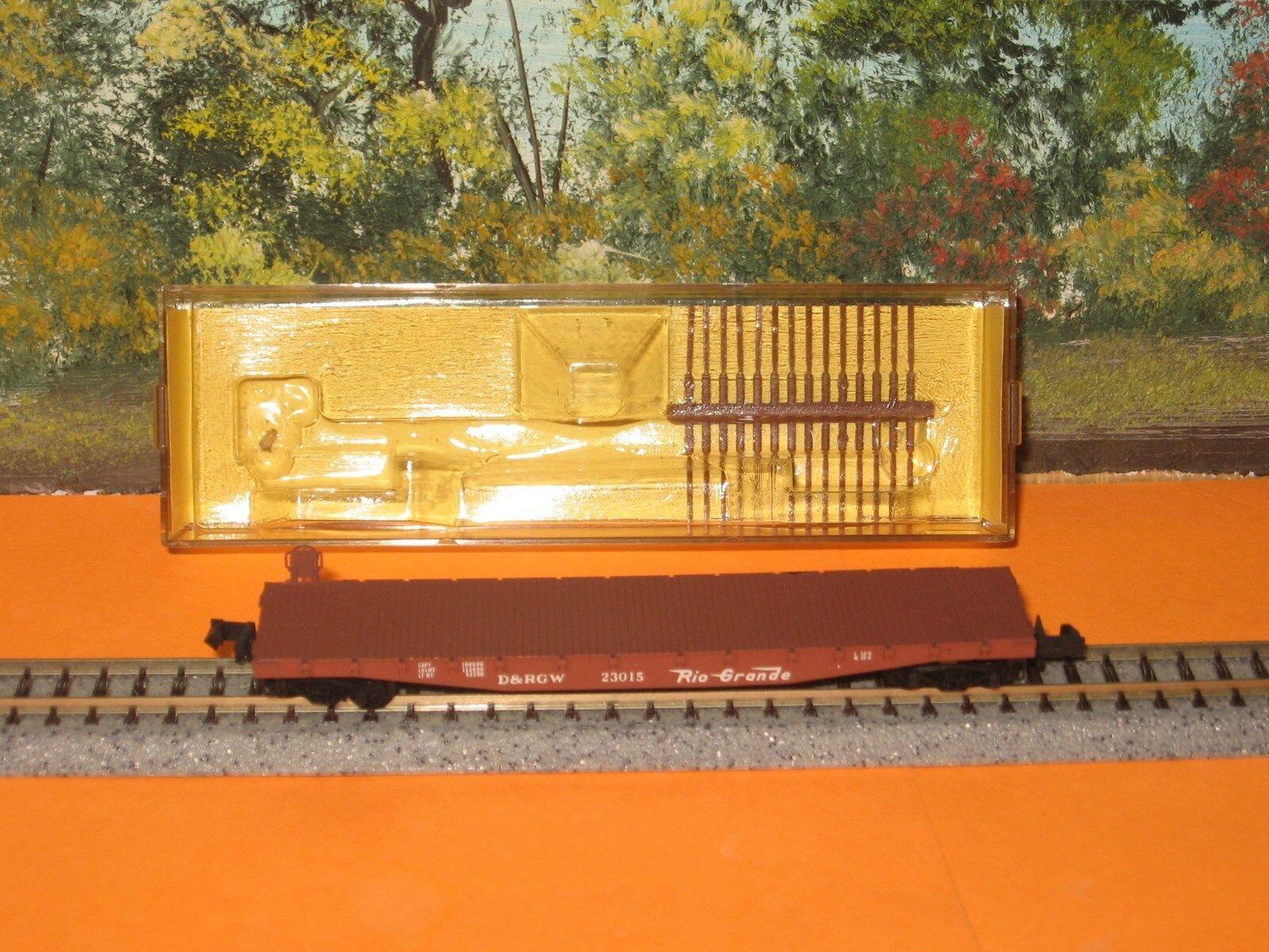 MICRO-TRAINS N SCALE  45060 50ft FLATCAR D&RGW (YELLOW INSERT)
