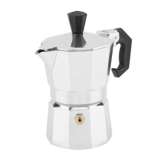 30mL Cup Metal Italian Type Moka Pot Espressos Coffee Maker Stove Cafe Office