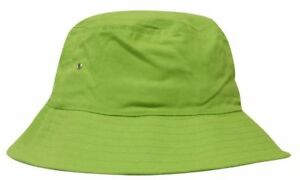 CUSTOM-Personalised-Embroidery-GREEN-Brushed-Twill-Beach-Bucket-Hat-L-XL-61cm