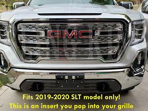 2019-2021 GMC Sierra 1500 SLT chrome grille insert mesh grill overlay SLT ONLY