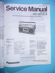 original Tv, Video & Audio Service Manual-anleitung Für Panasonic Rx-5012ls