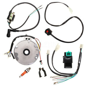 For-50-125cc-Kick-Start-Dirt-Pit-Bike-Wire-Harness-Wiring-Loom-CDI-Coil-4-Stroke