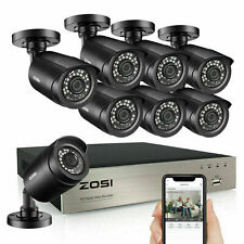 ZOSI 8CH H.265+ 5MP Lite DVR 1080P Outdoor Surveillance Security Camera System