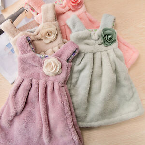 Soft Dress Shaped Super Absorbent Hand Towels Kitchen Cleaning Towel