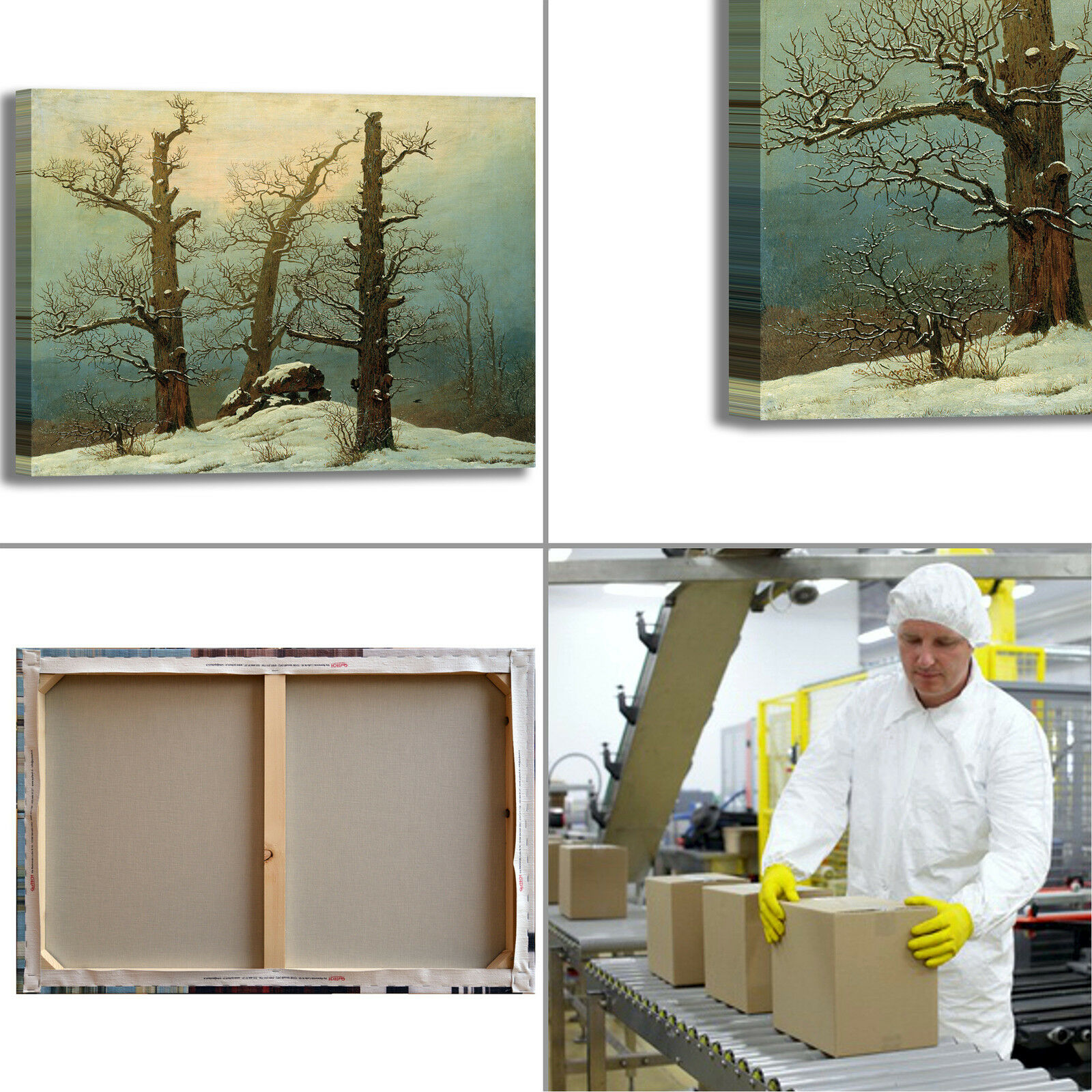 Caspar tumulo di design neve design di quadro stampa tela dipinto telaio arRouge o casa 569fca