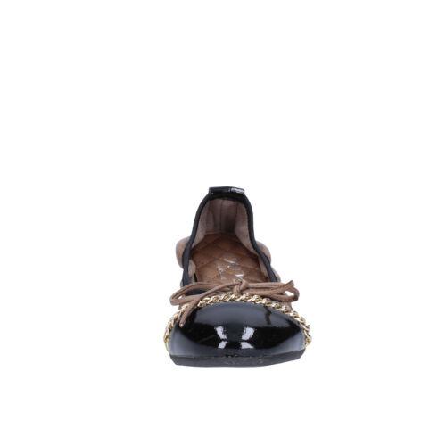 Crown Scarpe 37 Bx641 Eu Pelle 37 Beige Ballerine Nero Donna P5Pqg