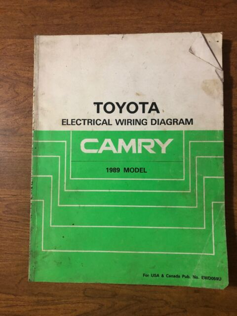 1989 Toyota Camry Wiring Diagrams Electrical Service