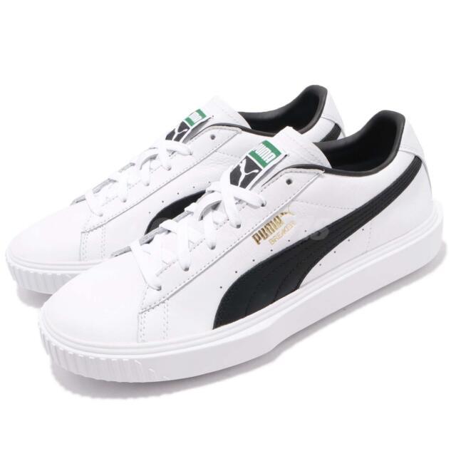 399e029dcf7849 Puma Breaker LTHR Leather White Black Men Casual Shoes Sneakers 366078-02