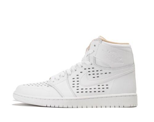 142 Retro Air Tan 1 Vachetta 11 bianca High Jordan 845018 Uk Size Perf Nike A6qwSO