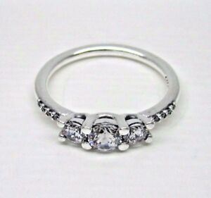 eec3b8670 Image is loading Authentic-Pandora-196242CZ-52-Fairytale-Sparkle-Ring-with-