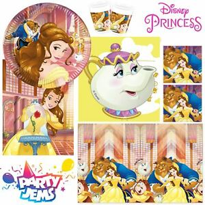 Disney-Beauty-amp-Beast-Party-Children-039-s-Birthday-Party-Decorations-Tableware