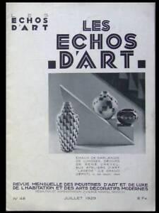 Ambitieux Les Echos D'art N°48 1929 Ceramique Bretagne, Verrerie,meheut,lenoble,puiforcat Peut êTre à Plusieurs Reprises Replié.