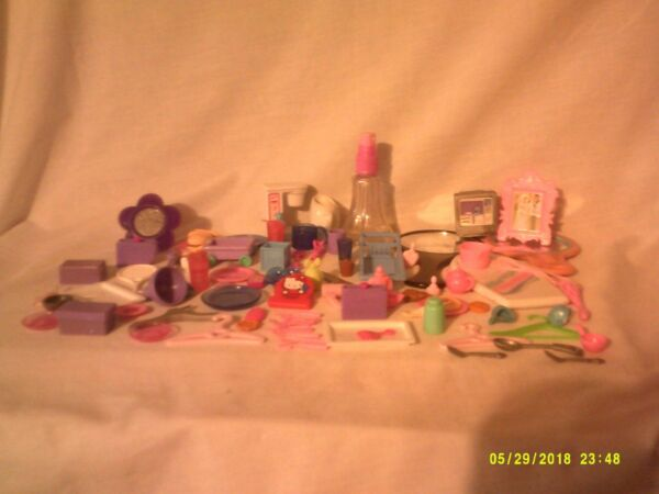 # 2 Barbie Mattel Skipper Stacie Dollhouse Accessories Huge Lot