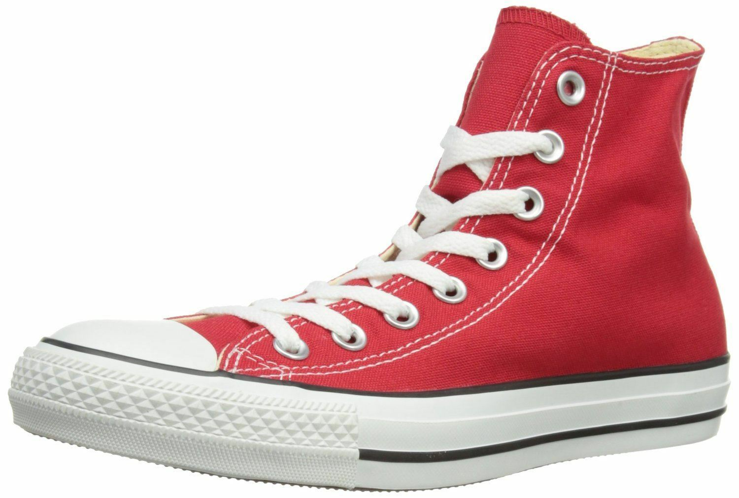 Converse Chuck Taylor All Star Rot Weiß Hi Unisex Sneakers Stiefel