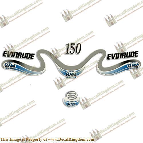 Evinrude 150hp Ficht Ram Decals  2000