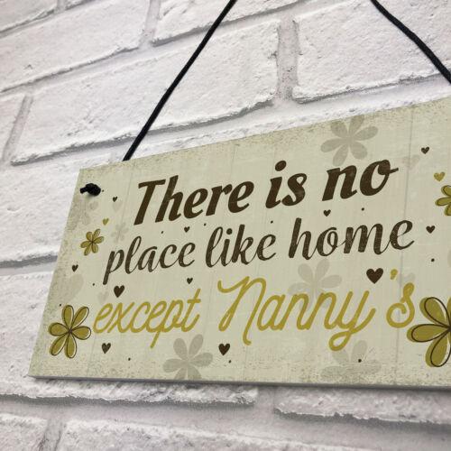 Nanny Nan Christmas Birthday Gifts Hanging Wall Door Plaque Xmas Home Keepsake
