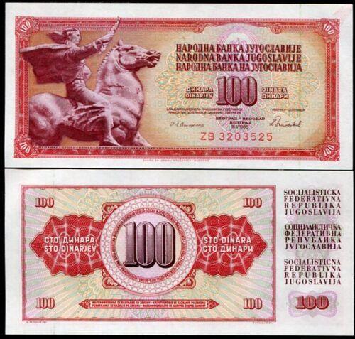 YUGOSLAVIA 100 DINARA 1986 P 90 ZB REPLACEMENT UNC