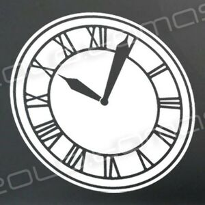 back to the future hill valley clock tower sticker decal. Black Bedroom Furniture Sets. Home Design Ideas