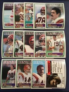 1983-Topps-CINCINNATI-BENGALS-Complete-Team-Set-14-ANDERSON-MUNOZ-COLLINSWORTH