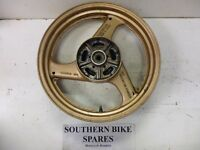 "1990 Suzuki GSX600 FL Rear Wheel 17"" Rim *BIKE BREAKING* GSX600F GSX 600 F"