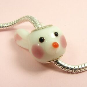 Rabbit Bead Charm Fits European Bracelets /& Necklace