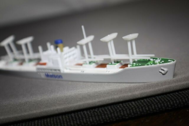 Ss Volunteer Mariner Matson Lines Cargo de Triang Minic Ships Boxed