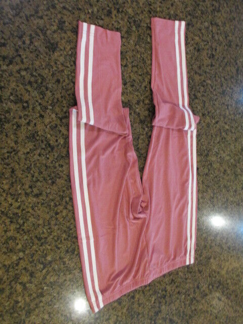 NOBO Super Soft Ankle Legging pink side stripes women juniors  XXL 19 NWT