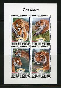 Guinee-2018-Tigres-feuille-neuf-sans-charniere