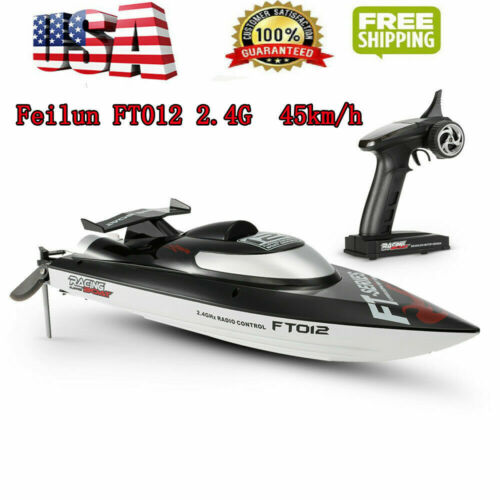 USA Feilun FT012 RC Boat 2.4G Brushless 45km//H Water-Cooling System J7P8