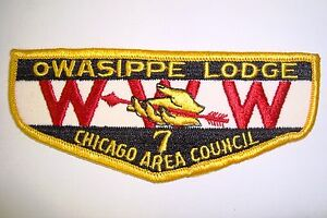 OA OWASIPPE LODGE 7 MERGED 13 21 23 25 CHICAGO AREA COUNCIL PATCH GAUZE FLAP