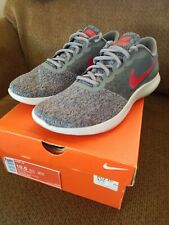 86569c034d21d Nike Flex Contact Mens 908983-006 Cool Grey Red Knit Running Shoes ...