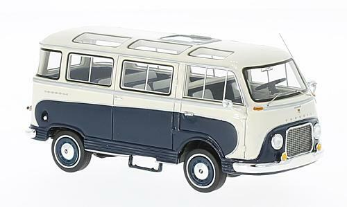 Ford Taunus Transit Panoramabus 1953 Dark bluee   White 1 43 Model