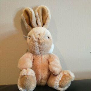 "Used Vintage Gund Bunny Rabbit Brown Tan 1990 Plush Stuffed Small 10"" 🔥 🐻"