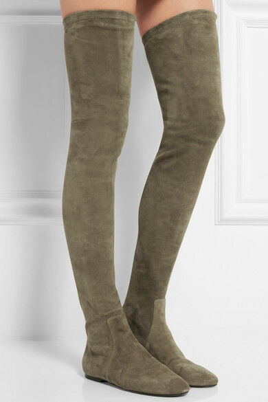 ISABEL MARANT Étoile Brenna stretch-suede over-the-knee Stiefel  1035