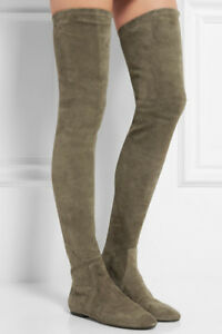 9f8756bc413 ISABEL MARANT Étoile Brenna stretch-suede over-the-knee boots RRP ...