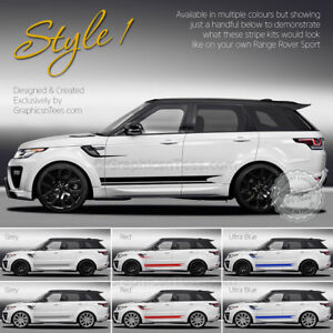 range rover sport custom side stripe stickers 16 colour choices