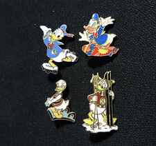 Disney Donald Duck Sports - Lot of 4 Different Older Pins Skate Dive Ski...