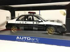 Subaru Impreza WRX STi Japanese Police Car AUTOart 1:18 78656